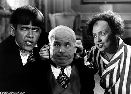Obama, McCain, and Clinton