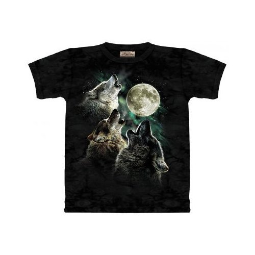 Three wolves, one moon T-shirt