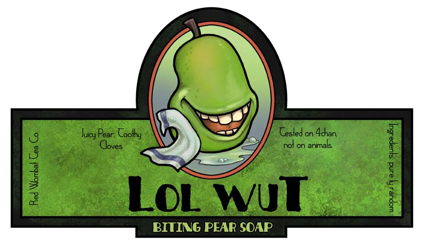 Biting pear soap