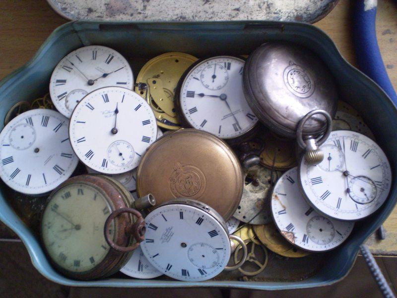 A box of clocks