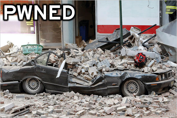 Pwned: Crushed car