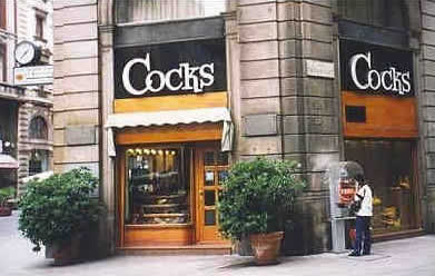 Cocks storefront