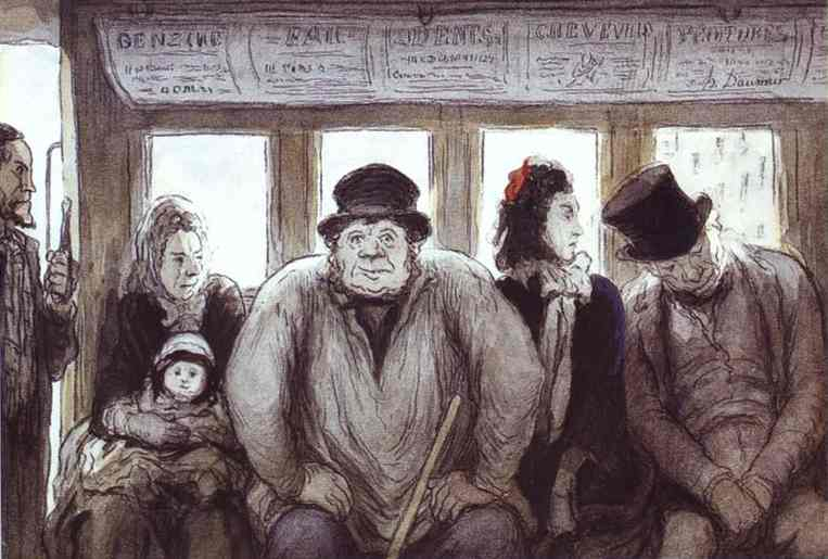 In the Omnibus, by Honoré Daumier