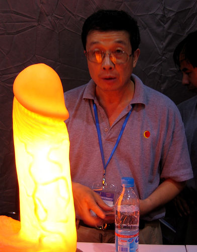 Glowing cock