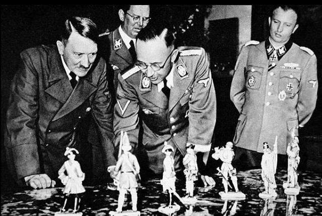 Hitler with toy soldiers
