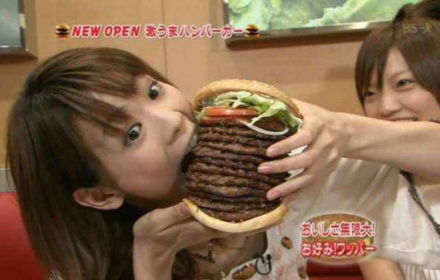 Enormous Japanese burger