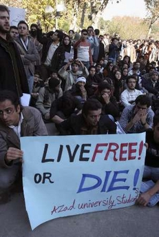 "Iran ""live free or die"" protests"