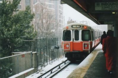 MBTA orange line train