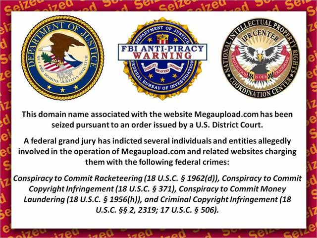 Megaupload.com takedown notice