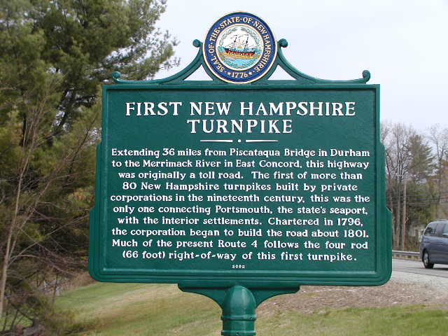 New Hampshire Turnpike sign