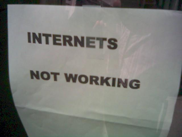 Internets not working