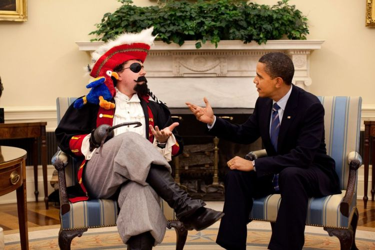Obama and a pirate