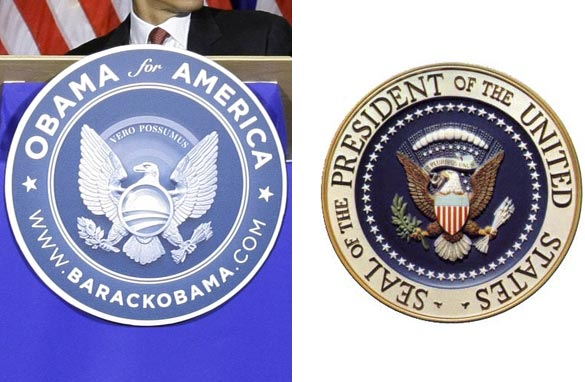 The Obama seal next to the Great Seal
