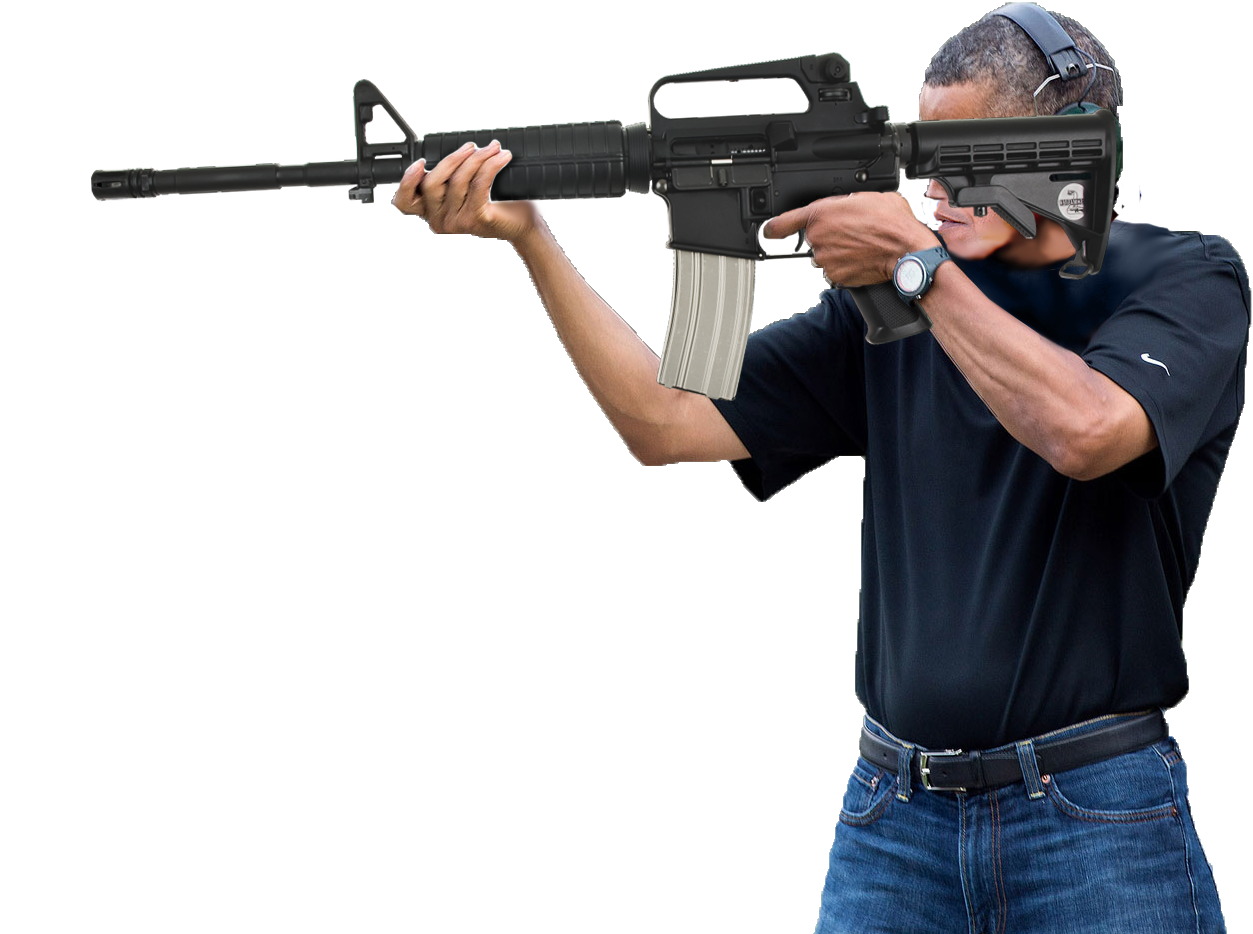Obama shooting an AR-15 (exploitable)