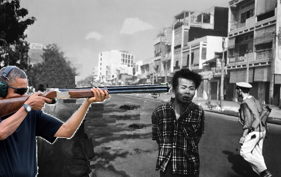 Obama shooting in Vietnam
