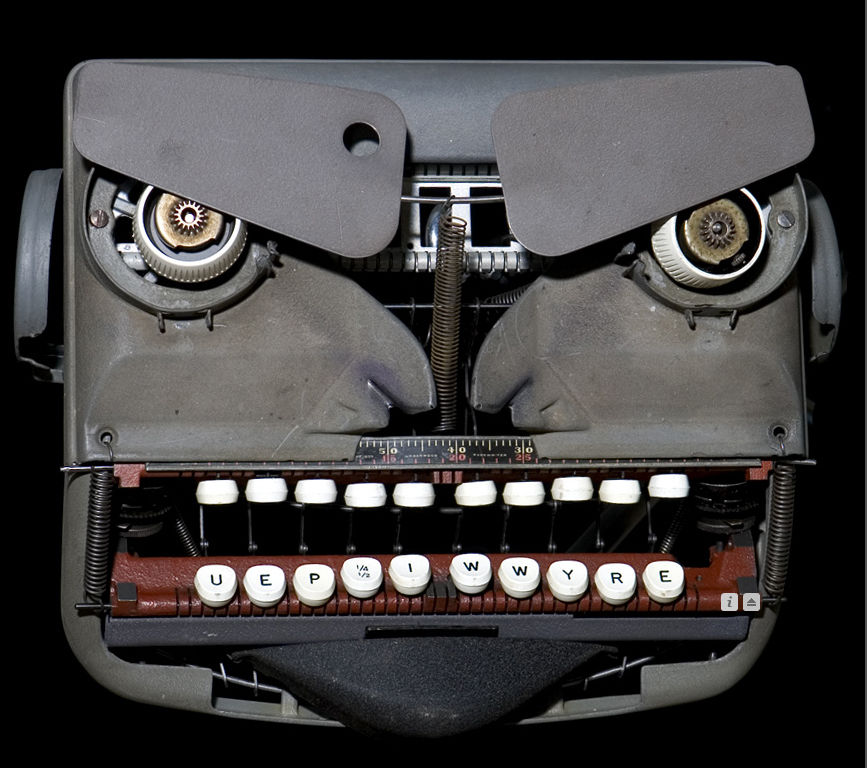 Pareidolia typewriter