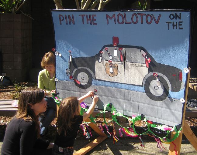 Pin the molotov on the cruiser
