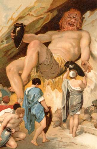 Polyphemus And Odysseus Land of the Cyclops - ...