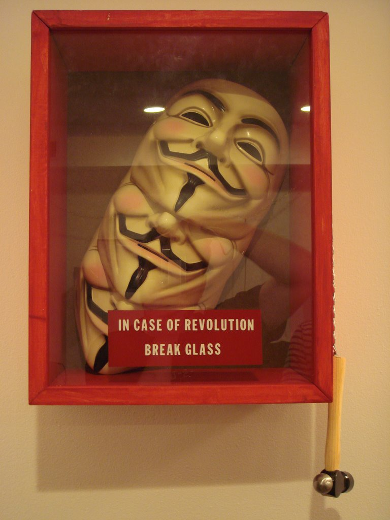 V: In case of revolution, break glass