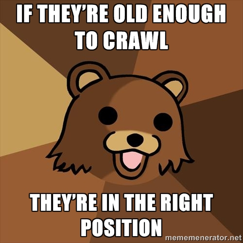 Youth Mentor Bear: Old enough to crawl…